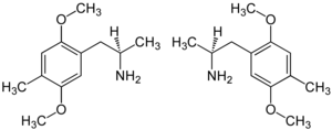 Strukturformel von 2,5-Dimethoxy-4-methylamphetamin