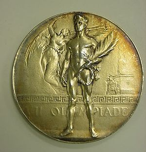1920 Summer Olympics - One of the 154 (identical) gold medals awarded at the Games of the VII Olympiad
