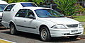 2000 Ford Falcon (AU II) Forté station wagon, retired disabled taxi (2010-12-28).jpg