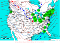 2009-01-11 Surface Weather Map NOAA.png