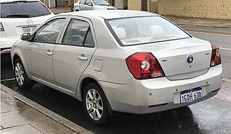 Geely MK - Image: 2009 2013 Geely MK GL sedan (2018 10 18)