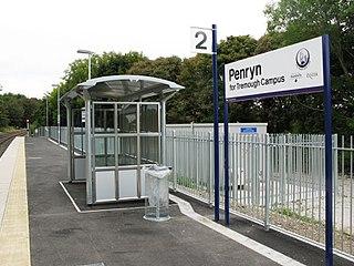 Penryn railway station Railway station in Cornwall, England