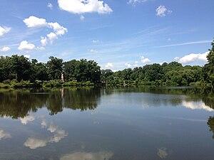 Lake Sylva - View northwest across Lake Sylva from the dam