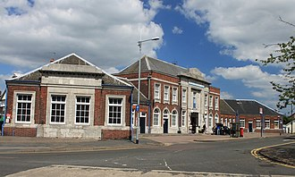 Clacton-on-Sea railway station - Image: 2013 at Clacton on Sea station frontage