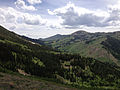 2014-06-24 14 16 15 View south toward Coon Creek Summit and the Copper Mountains from Elko County Route 748 (Charleston-Jarbidge Road) between Bear Creek Summit and Coon Creek Summit, Nevada.JPG