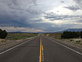 2014-07-18 19 09 51 View east along U.S. Route 6 about 13.2 miles east of the Nye County Line in White Pine County, Nevada.JPG