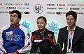 2014 ISU Junior Grand Prix Final Daria Beklemisheva Maxim Bobrov Sergei Komolov IMG 2100.JPG