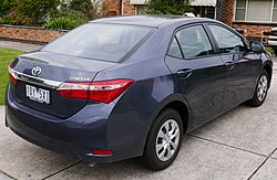 2014 Toyota Corolla (ZRE172R) Ascent sedan (2015-05-29) (cropped).jpg