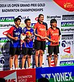 2014 US Open Grand Prix Gold - Women's doubles podium.jpg