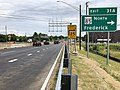 2019-06-18 14 19 06 View south along Interstate 270 (Washington National Pike) at Exit 31A (Maryland State Route 85 NORTH, Frederick) in Ballenger Creek, Frederick County, Maryland.jpg