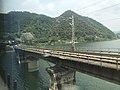 201908 Shanghai-Kunming Railway Zi River Bridge in Pingkou, Anhua.jpg