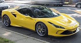 2020 Ferrari F8 Tributo in yellow, front right (Amagansett).jpg