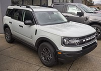 2021 Ford Bronco Sport Big Bend in Cactus Gray, front right.jpg