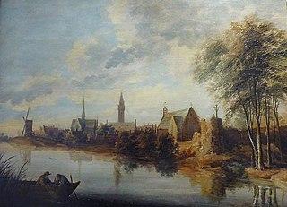 Vue d'un village bordant une rivière