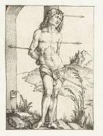 25 St Sebastian, Tied to a Column.jpg
