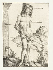 Saint Sebastian at the Column