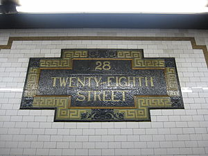 28th Street (IRT Lexington Avenue Line) - Image: 28th Street 005