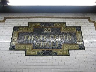 28th Street (IRT Lexington Avenue Line) - Image: 28th Street 005