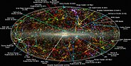 Map of galaxy superclusters and filaments