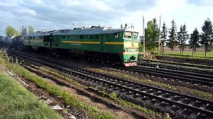 Файл:2TE116-1699 departure from Krustpils to Eglava.webm