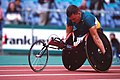 301000 - Athletics wheelchair racing Kurt Fearnley action 2 - 3b - 2000 Sydney race photo.jpg