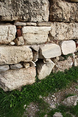 Themistoclean Wall - Use of Spolia at the Odeion of Agrippa in Athens