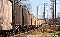 3 5 CSXT 700 Leads WB Covered Hopper Olathe, KS 12-2-17 (38782634432).jpg
