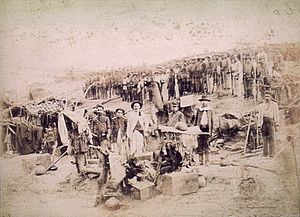 War of Canudos - The 40th Infantry Battalion that came from Pará province to quell the Canudos rebellion, 1897.