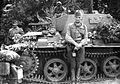 42M Toldi II harckocsi kezelőivel. Fortepan 12213.jpg
