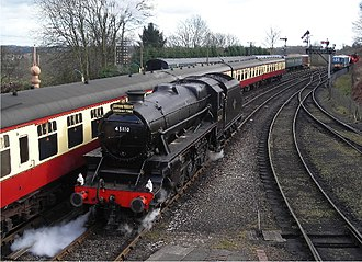 Railways of Shropshire - The Shropshire-Worcestershire Severn Valley Railway, at Bridgnorth.