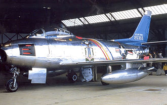 492d Fighter Squadron - 492d TFS (Also Wing Commander's) F-86F-25-NH Sabre - 52-5355