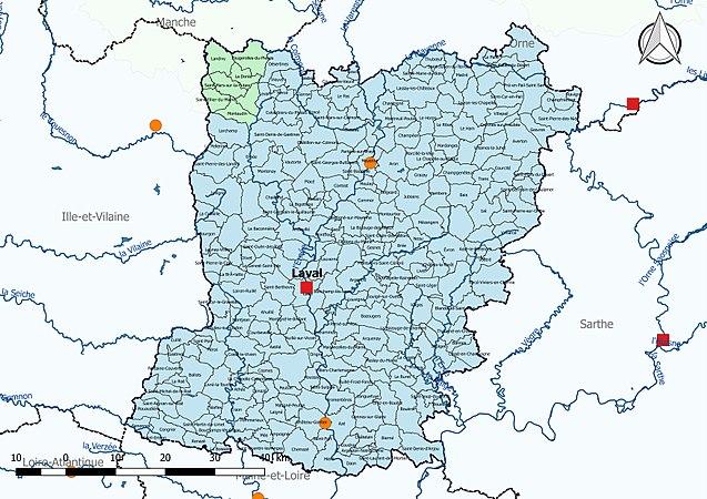 carte de la mayenne détaillée Mayenne (département) — Wikipédia