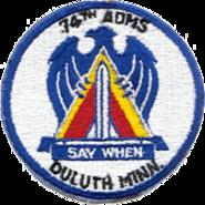74th Air Defense Missile Squadron - ADC - Emblem