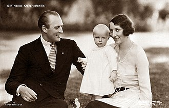 Princess Märtha of Sweden - Märtha with her husband and daughter Ragnhild
