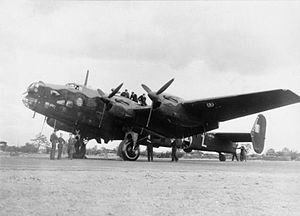 No. 76 Squadron RAF - 76 Squadron Halifax at RAF Middleton St. George, later shot down attacking Magdeburg