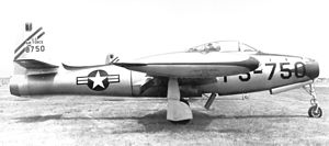 84th Flying Training Squadron - 84th Fighter Interceptor Squadron F-84D 48–750, about 1950