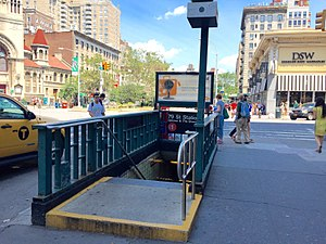 79th Street (IRT Broadway–Seventh Avenue Line) - SE corner stairs