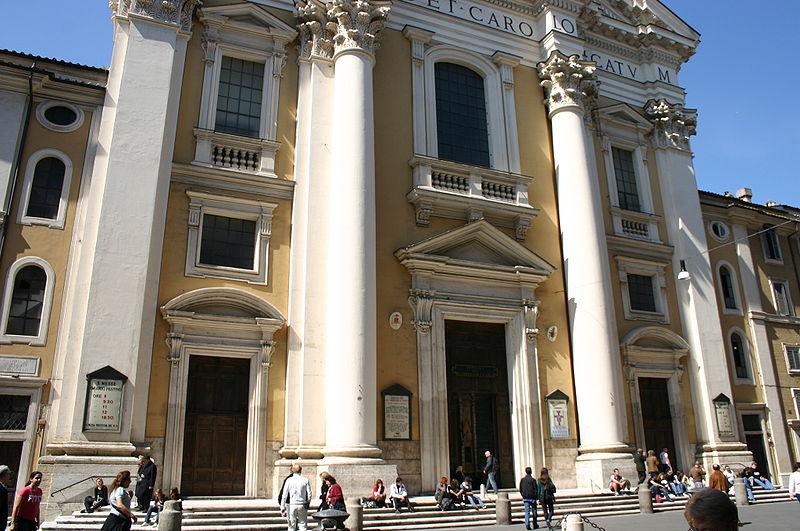 File:8332 - Roma - San Carlo al Corso - Facciata - Foto Giovanni Dall'Orto, 29-March-2008.jpg