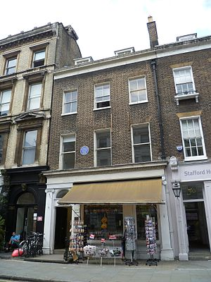 George du Maurier - George du Maurier's former home at 91 Great Russell Street, London