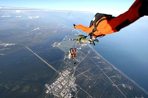 920th Rescue Wing - Members of the 920th Rescue Wing conducting freefall training over Cape Canaveral Air Force Station