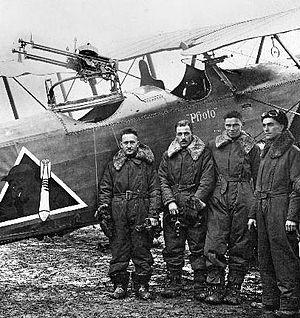 96th Aero Squadron - 96th Aero Squadron - 2d Lt. Avrom Hexter, 1st Lt. Samuel Hunt, 1st Lt. David Young, and 1st Lt. Howard Rath. (Photo taken on 12 November 1918)