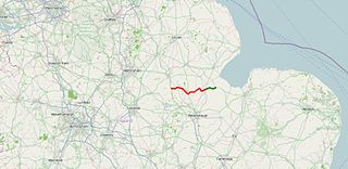 A151 road Road in Lincolnshire, England