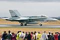A21-9 McDonnell Douglas F-A-18A Hornet RAAF Purple Cobras Hornet Formation Aerobatic Team (8328966903).jpg