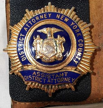 District attorney - Shield of an Assistant District Attorney (ADA)