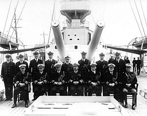 "8""/45 caliber gun - Image: ADM Montgomery M Taylor and US Asiatic Fleet Staff Shanghai China 1932"