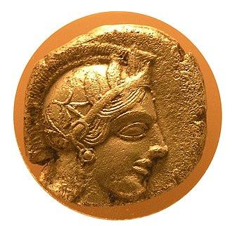 Economy of ancient Greece - Athenian coin, Athenian Agora Museum