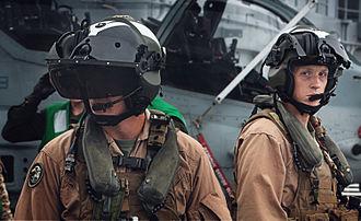 Bell AH-1Z Viper - AH-1Z pilots wearing helmet mounted displays (displays not shown).
