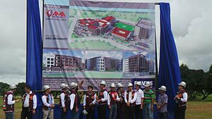 AMA Computer University - Image: AMA University Cavite Ground Breaking Sept 13, 2013