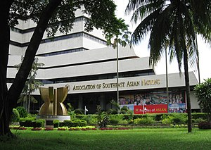 Kebayoran Baru - The ASEAN secretariate building is located in the garden city-planned Kebayoran Baru.