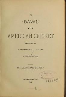 "A ""Bawl"" for American Cricket.djvu"